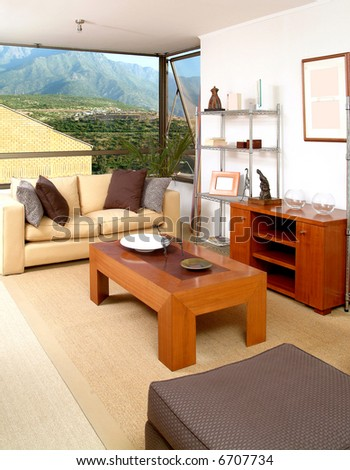 interior of brand new modern apartment - stock photo