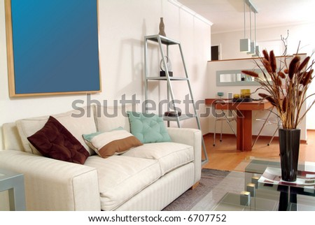 interior of brand new modern apartment - stock photo