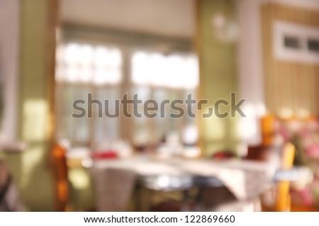 Interior of cafe, background - stock photo