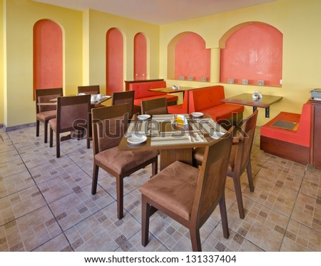 Interior of caribbean mexican restaurant