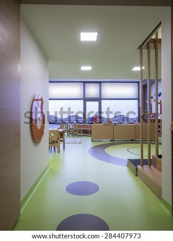 Interior of day nursery ( kindergarten)