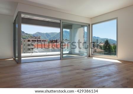 wonderful empty apartment living room | Interior Modern House Empty Living Room Stock Photo ...