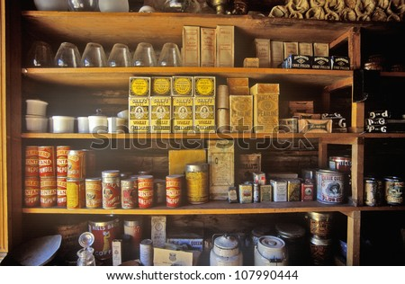 Interior of General Store in Ghost Town near Virginia City, Montana