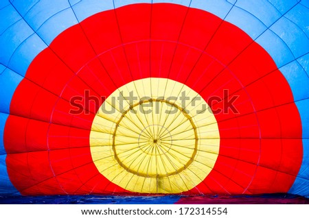 Interior of hot air balloon - stock photo