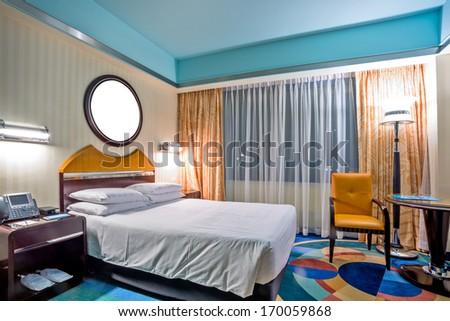 interior of hotel - stock photo