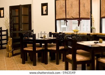 Interior Of Japanese Restaurant Sushi Bar 1