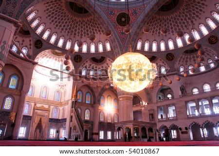 Interior of Kocatepe Mosque - Ankara, Turkey - stock photo