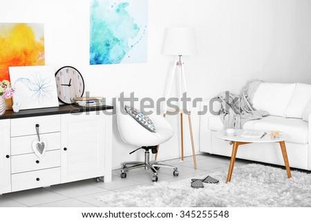 Interior of living room - stock photo