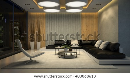 Living Room Night living room night stock images, royalty-free images & vectors