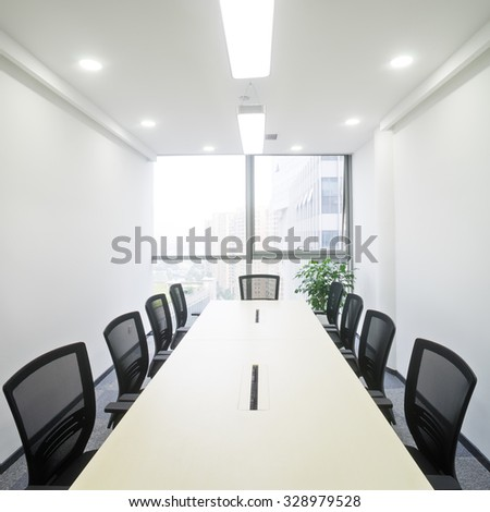 interior of meeting room in moder office - stock photo