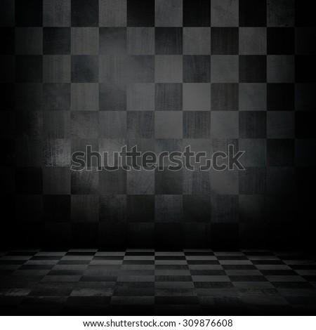 interior of metal grid background - stock photo