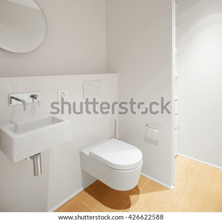 Interior of modern apartment, bathroom