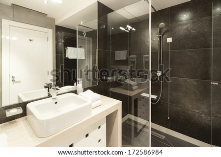 Interior of modern bathroom  - stock photo