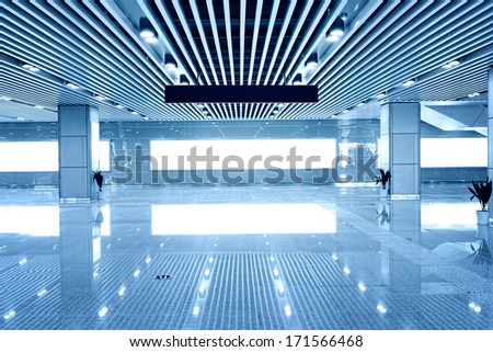 interior of modern building - stock photo
