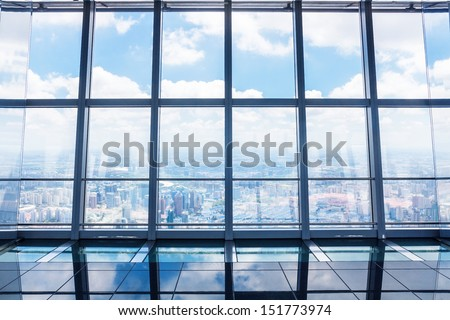 interior of modern buildings - stock photo