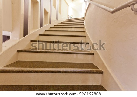 interior of modern marble stairs