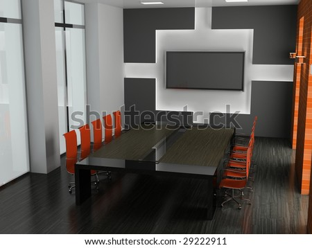 Interior of modern office 3D