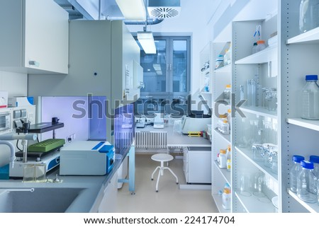 Interior of modern research laboratory  - stock photo