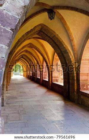 interior of Nuestra Senora de Valvanera Monastery, La Rioja, Spain - stock photo