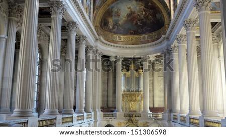 interior of palace versailles, france - stock photo