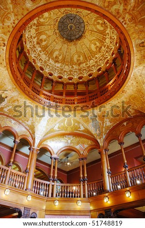 Interior of Ponce De Leon Hotel (Flagler College) in St. Augustine - stock photo