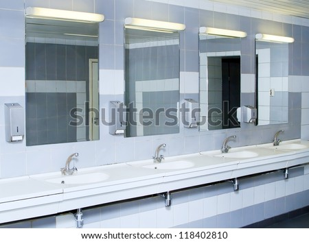 interior of private restroom - stock photo