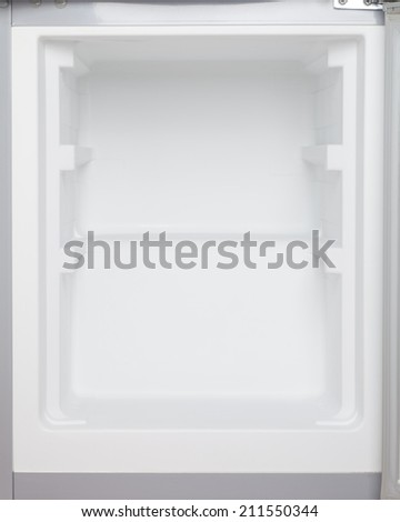 interior of refrigerator - stock photo