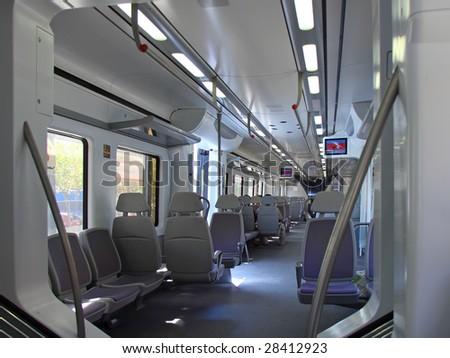 Interior of speed Train. Spain - stock photo
