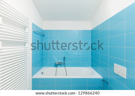 Interior of stylish modern house, bathroom - stock photo