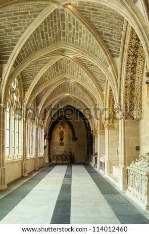 Interior of the Cathedral of Virgin Mary in Burgos, Spain
