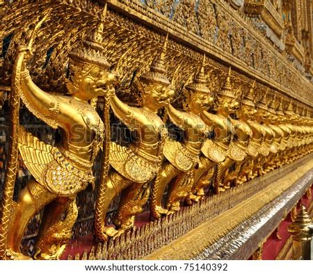 Interior of the Grand Palace in Bangkok. Thailand - stock photo