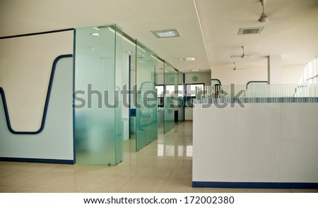 Interior of the modern office in the new building  - stock photo