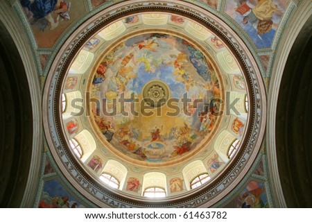 Interior of the old church dome