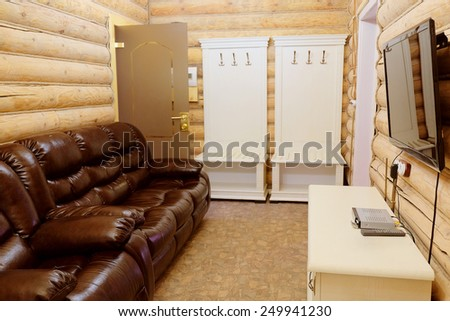 Interior of the rest rooms in the cottage - stock photo