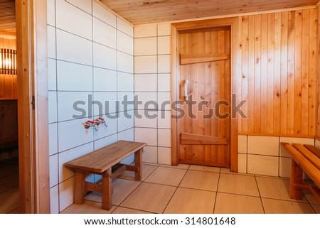 Interior Of The Sauna -  Bench, Nobody - stock photo