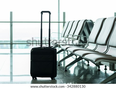 interior of the shanghai pudong airport  - stock photo