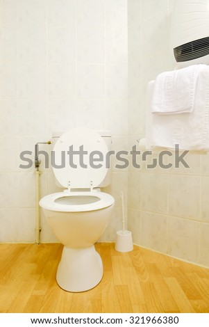Interior of Toilet seat in bathroom