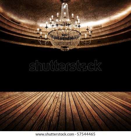interior of vintage hall - stock photo