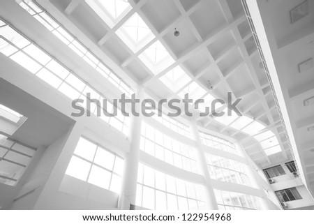 interior of white office - stock photo