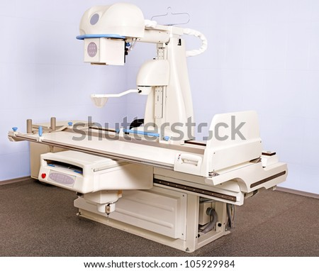 Interior of X-ray room. - stock photo