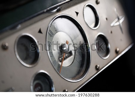 Interior photo of the American classic car - stock photo
