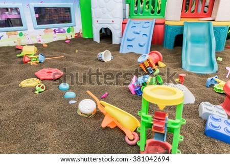 Interior, playground indoors - stock photo