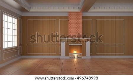 interior room 3d rendering