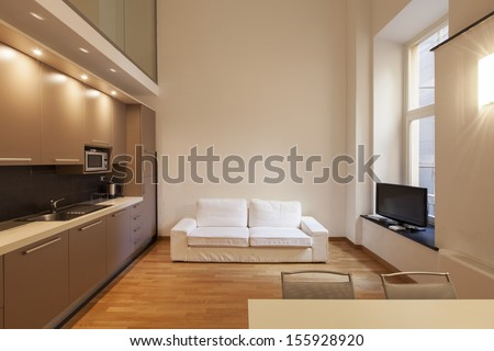 Interior room with nice furniture inside - stock photo