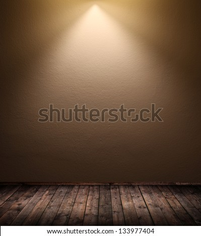 interior room with top lightening - stock photo