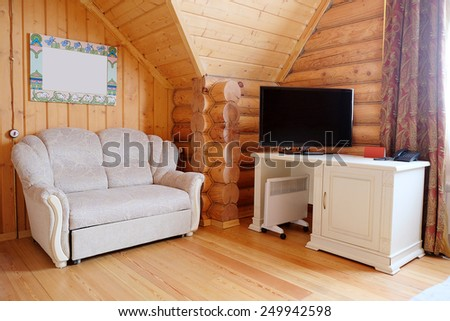 Interior rooms in the cottage - stock photo