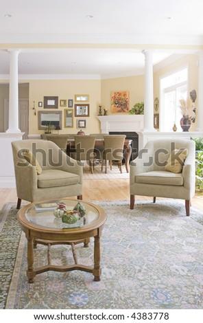 interior sitting room - stock photo