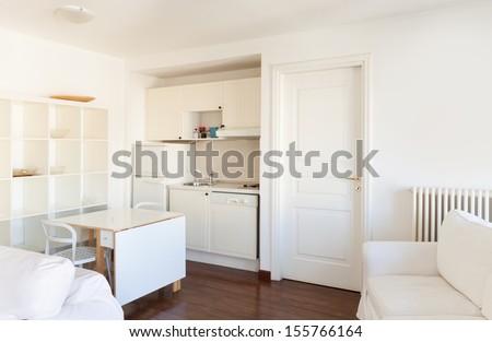 Interior, small apartment, room view - stock photo