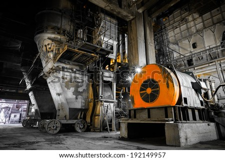 interior thermal power plant , coal crusher equipment