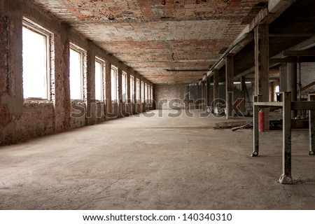 Interior under construction, building site, empty interior